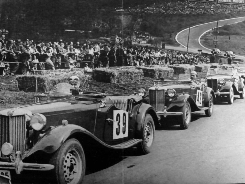 T-types Op Francorchamps (1951) Voordat MGTTO Bestond.